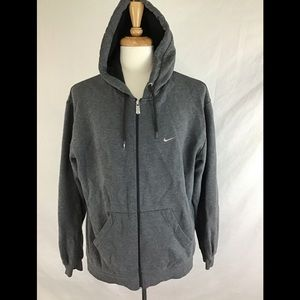 Nike Grey Zip Up Hoodie Mens Size L Jacket
